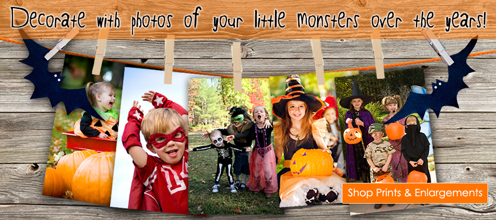 Decorate with photos of your little monsters over the years!  Click here to get Shop Prints & Enlargements.